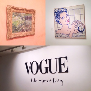 A couple of my favourites, Renior and Lichtenstein as well as the Vogue: like a painting exhibition entrance